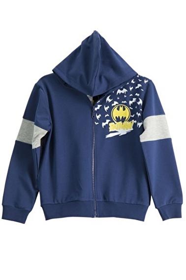 Batman Batman Lisanslı Grimelanj Erkek Çocuk Sweatshirt Lacivert